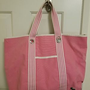 Lacoste Large Beach Canvas Tote